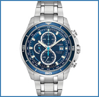 Mens' silver watch